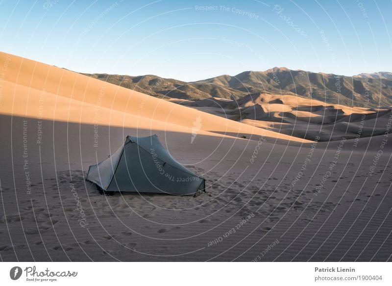 Zelten im Great Sand Dunes National Park Zufriedenheit Erholung Ferien & Urlaub & Reisen Ausflug Abenteuer Ferne Freiheit Expedition Camping Sommer wandern