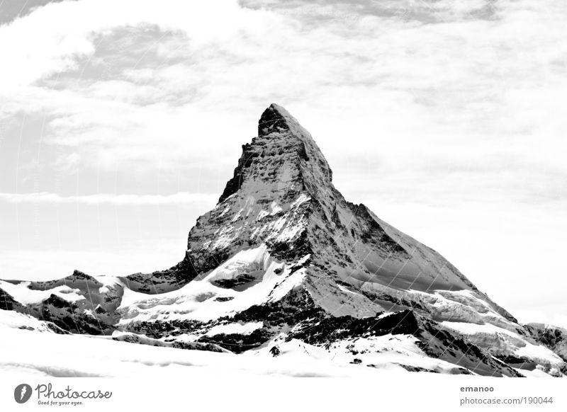 4478m Skipiste Natur Landschaft Himmel Winter Klima Wetter Schnee Hügel Felsen Alpen Berge u. Gebirge Gipfel Schneebedeckte Gipfel Gletscher frei gigantisch