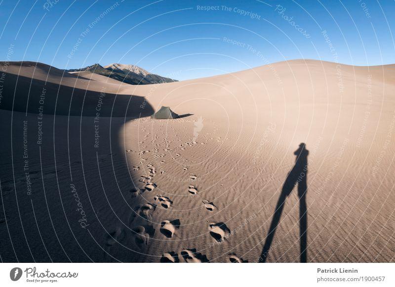 Great Sand Dunes National Park, Colorado ruhig Meditation Ferien & Urlaub & Reisen Ausflug Abenteuer Ferne Camping wandern Mensch 1 Umwelt Natur Klima