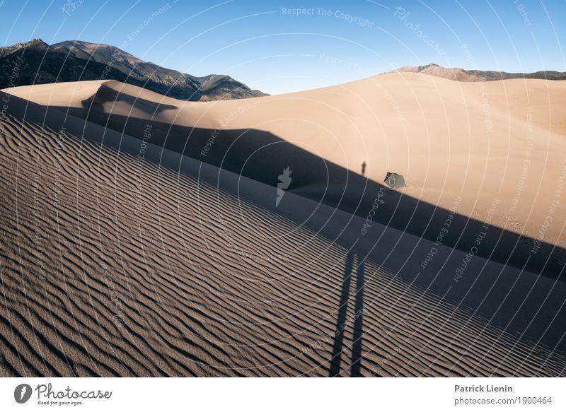 Great Sand Dunes National Park, Colorado Mensch Himmel Ferien & Urlaub & Reisen Natur Sommer Ferne Berge u. Gebirge Wärme Umwelt Tourismus Freiheit Ausflug