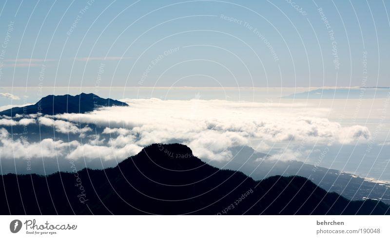 kältefrei Ferien & Urlaub & Reisen Tourismus Ferne Natur Landschaft Himmel Wolken Klimawandel Schönes Wetter Berge u. Gebirge Roque de Los Muchachos