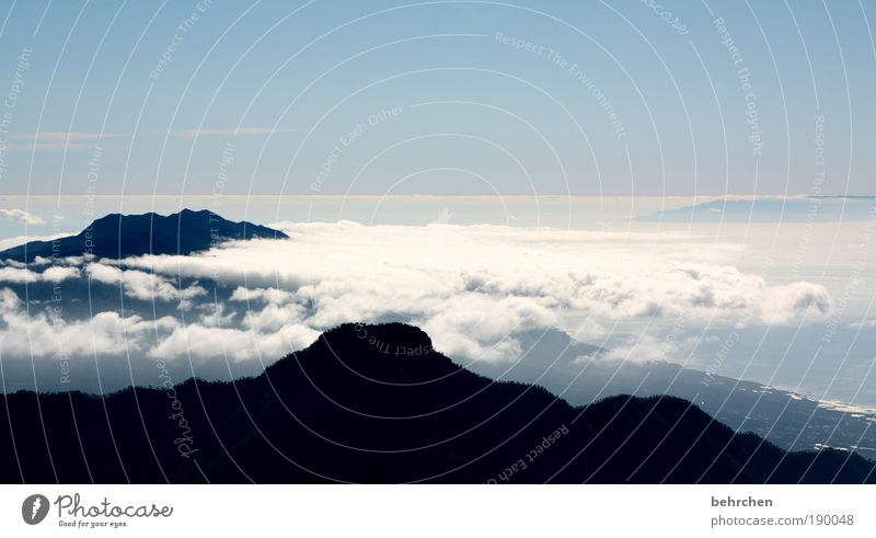 kältefrei Himmel Natur Ferien & Urlaub & Reisen Meer Landschaft Wolken Ferne Berge u. Gebirge Zufriedenheit Tourismus Kraft Insel fantastisch Schönes Wetter