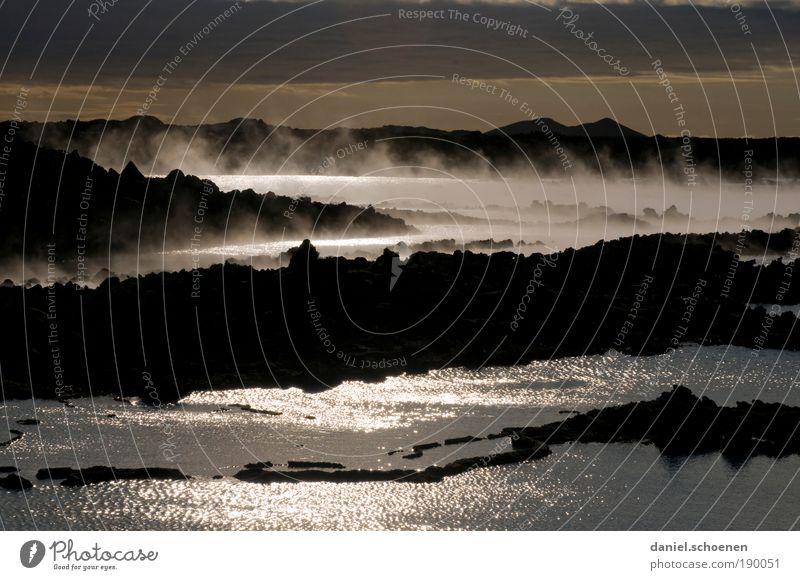 neulich in der Hölle Natur Wasser dunkel Landschaft Umwelt Luft Wetter Feuer Klima bedrohlich Urelemente außergewöhnlich Island Klimawandel Vulkan