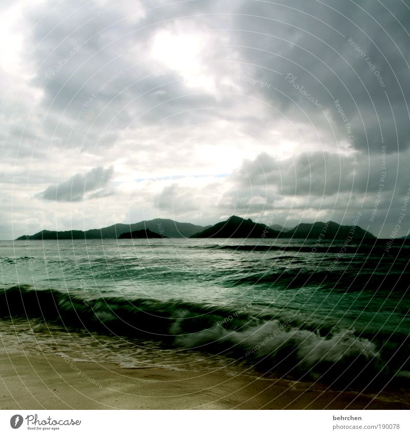 karibik-behrchen Himmel Natur Ferien & Urlaub & Reisen Meer Wolken Ferne Freiheit Berge u. Gebirge Landschaft Regen Wind Kraft Insel Tourismus Afrika Hoffnung