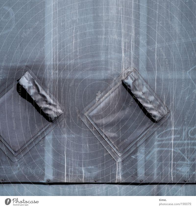 Lebenslinien #11 alt grau Linie Metall dreckig Eisenbahn trist Güterverkehr & Logistik Buchstaben Spuren außergewöhnlich Zeichen Kunststoff Tasche diagonal
