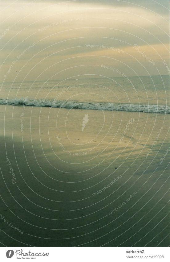 Meer Wasser ruhig Wolken Erholung Niederlande