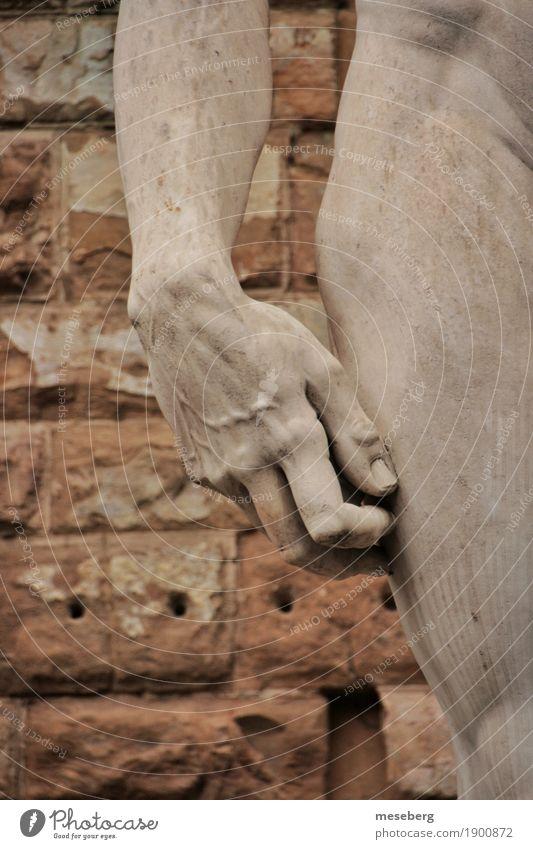 Davids Hand Kunst Kunstwerk Skulptur Sehenswürdigkeit Wahrzeichen Stein Kultur Farbfoto Außenaufnahme