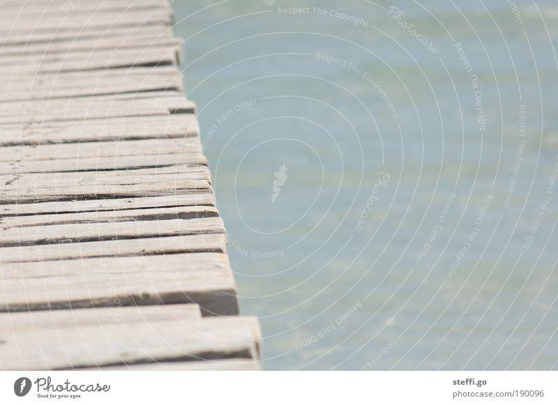 Bretter, die die Welt bedeuten. Natur Ferien & Urlaub & Reisen Wasser Sommer Sonne Meer Erholung ruhig Strand Ferne Küste Holz Freiheit träumen Schönes Wetter