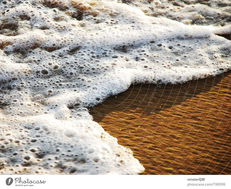 always moving. Natur Wasser weiß Strand Ferien & Urlaub & Reisen Meer ruhig Erholung Gefühle Bewegung Sand Erde Küste Wellen Wind Zeit