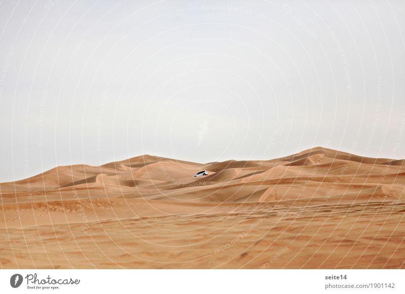 Sand Düne, Sanddüne, Wüste Ferien & Urlaub & Reisen Ausflug Expedition wandern Himmel Klimawandel Wärme Verkehrsmittel Autofahren PKW Geländewagen ästhetisch