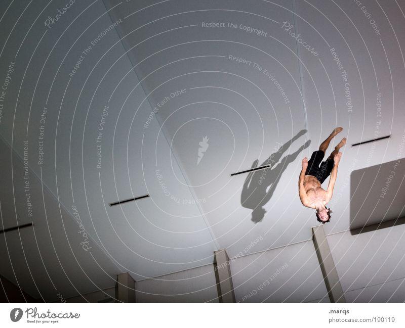 Emanoo Jugendliche Freude Erwachsene Leben Sport Architektur Glück springen Stil Körper Freizeit & Hobby elegant fliegen maskulin Lifestyle