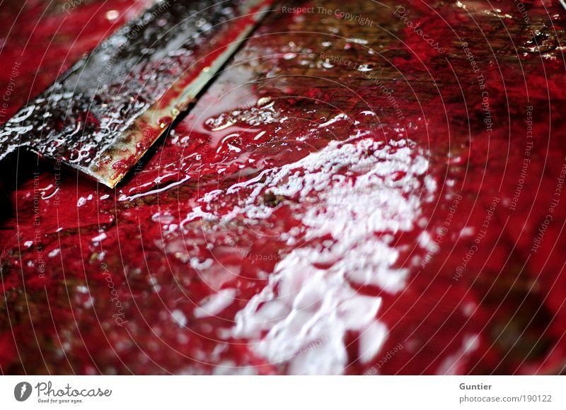 Saft! weiß rot schwarz Tod braun Asien Fisch Ende Gewalt Japan Messer Blut Reflexion & Spiegelung Kriminalität Ladengeschäft Mord