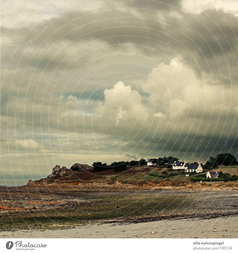 . Natur Meer Strand Ferien & Urlaub & Reisen Haus Wolken Einsamkeit Herbst Freiheit Gebäude Luft Küste Horizont Zukunft Tourismus