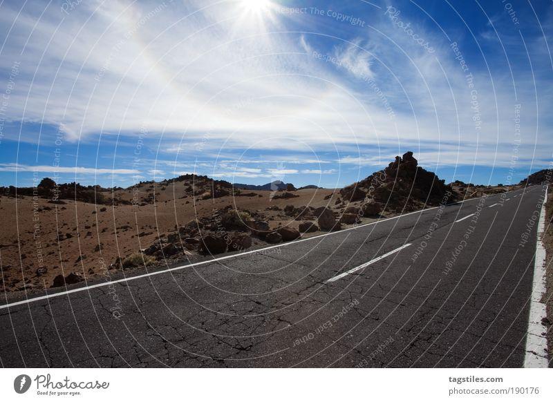 ZAHN DER ZEIT alt Himmel Sonne blau Sommer Ferien & Urlaub & Reisen Straße Erholung Felsen Insel Reisefotografie Wüste Farbe Zeit Jahreszeiten Spanien