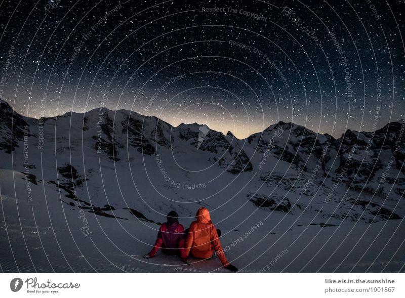 Mit Dir Sterne schauen... Glück Leben Ferien & Urlaub & Reisen Winter Schnee Winterurlaub Berge u. Gebirge wandern Sportler Skier Mensch maskulin feminin