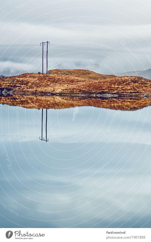 Reflektierte Kommunikation II Natur Ferien & Urlaub & Reisen Landschaft Erholung Ferne Umwelt Herbst Frühling Küste Tourismus Freiheit See Kommunizieren Idylle