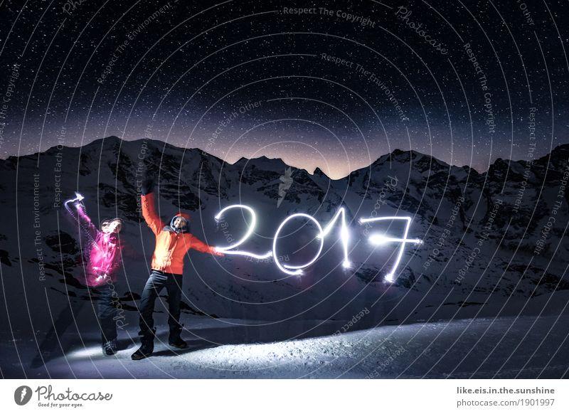 2017, baby Winter Schnee Winterurlaub Berge u. Gebirge maskulin feminin Frau Erwachsene Mann Freundschaft Paar Partner Leben Mensch Umwelt Natur Landschaft