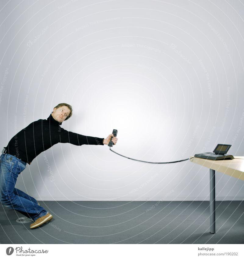 ferngespräch Mensch Mann Erwachsene Leben sprechen Büro Business Arbeit & Erwerbstätigkeit maskulin Telefon Netzwerk Technik & Technologie Telekommunikation