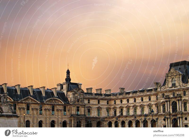 Kitschy Himmel schön Paris Burg oder Schloss Schönes Wetter Museum Frankreich Sehenswürdigkeit Hauptstadt Gebäude Altstadt Klischee Louvre