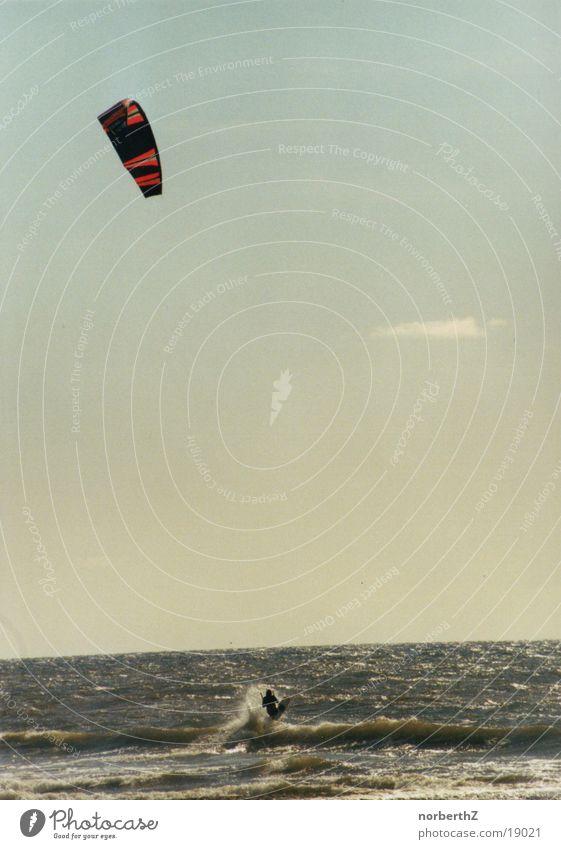 Kitesurfer Wasser Meer Sport Wind Nordsee Surfer Kiting Sportler