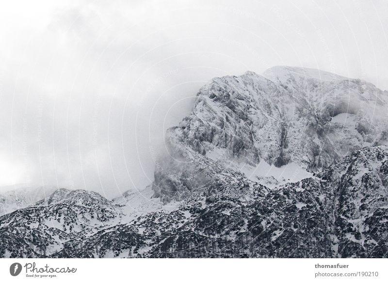 Mörderberg Himmel Natur Ferien & Urlaub & Reisen Wolken Winter Schnee Berge u. Gebirge Landschaft Umwelt Luft Erde Eis Wind Nebel Felsen Klima