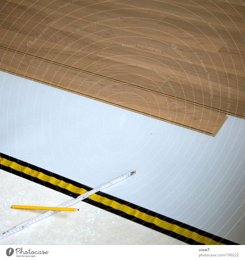 Laminat schön Haus Ferne Produktion Holz Linie Raum planen Wohnung Beton Ordnung einfach Baustelle Dekoration & Verzierung Licht Schatten