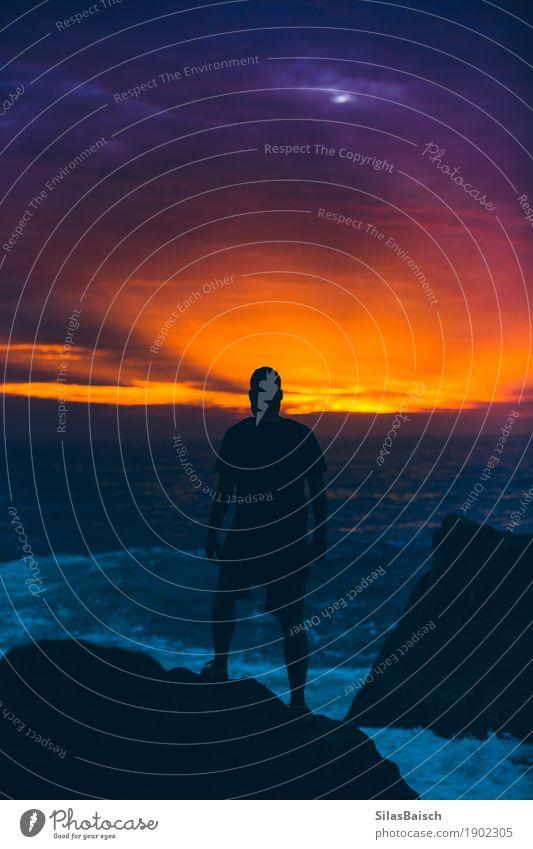 Nachtquartier Lifestyle exotisch Freude Glück Ferien & Urlaub & Reisen Abenteuer Ferne Freiheit Strand Meer Wellen wandern Mann Erwachsene Leben 18-30 Jahre