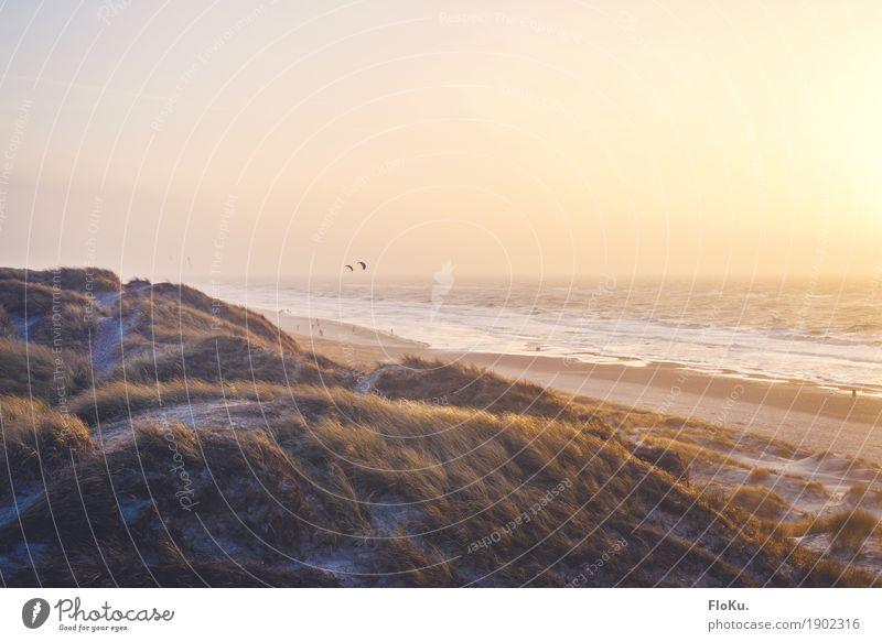 Warmer Abend am Meer Himmel Ferien & Urlaub & Reisen schön Wasser Landschaft Ferne Strand Wärme natürlich Küste Freiheit Stimmung Sand Tourismus wild