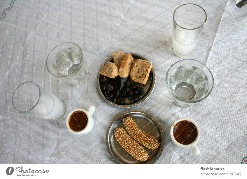 Griechischer Kaffee Ferien & Urlaub & Reisen weiß Sommer schwarz grau Metall braun Glas Lebensmittel Tisch Getränk trinken Dorf genießen