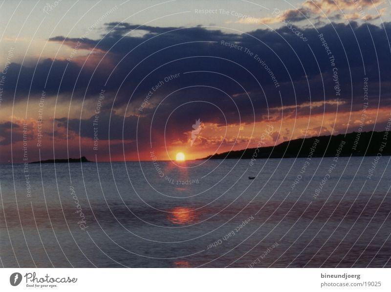 Sonnenuntergang in Kroatien Adria