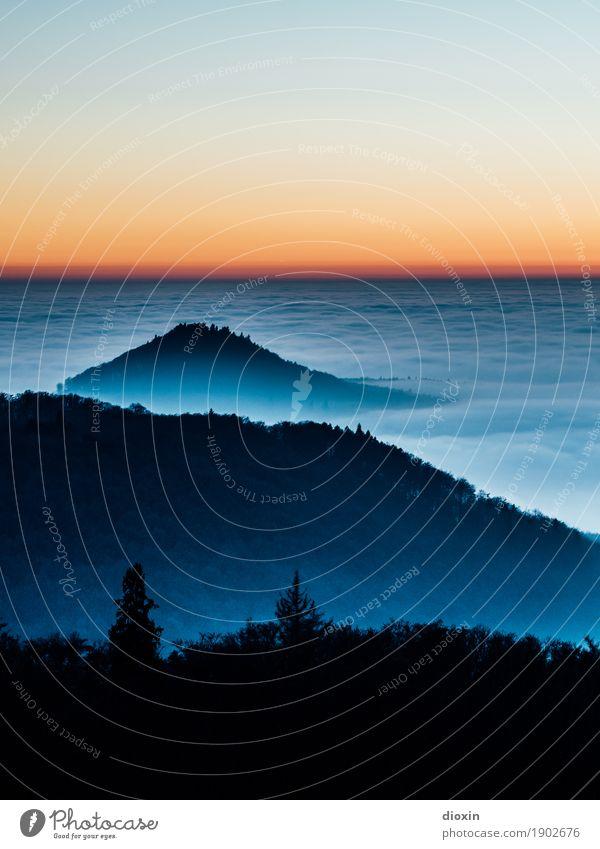 Ruhe Ferien & Urlaub & Reisen Ausflug Ferne Freiheit Berge u. Gebirge wandern Umwelt Natur Landschaft Himmel Wolkenloser Himmel Sonnenaufgang Sonnenuntergang