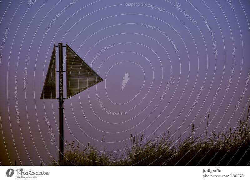 Fischerstrand Natur Himmel Pflanze Winter Strand Erholung Gras Metall Küste Schilder & Markierungen Klima Zeichen Richtung Ostsee Darß Prerow