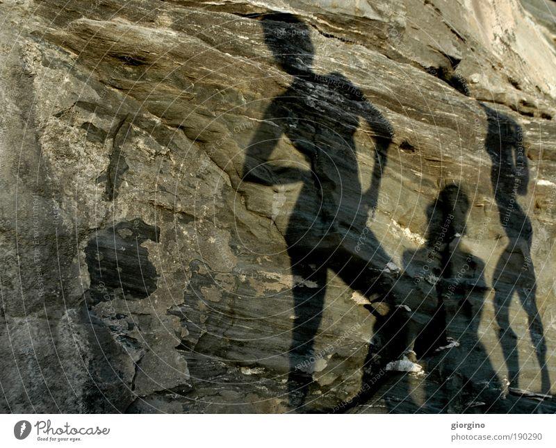 Mensch Frau Natur Mann Jugendliche Sonne Freude Erwachsene Umwelt feminin Berge u. Gebirge Leben nackt Menschengruppe Beine Paar