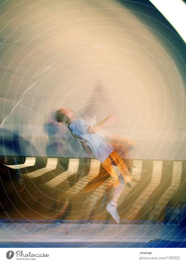 Rotation Jugendliche Freude Erwachsene Sport Bewegungsunschärfe springen Stil Freizeit & Hobby maskulin verrückt außergewöhnlich Lifestyle Coolness leuchten