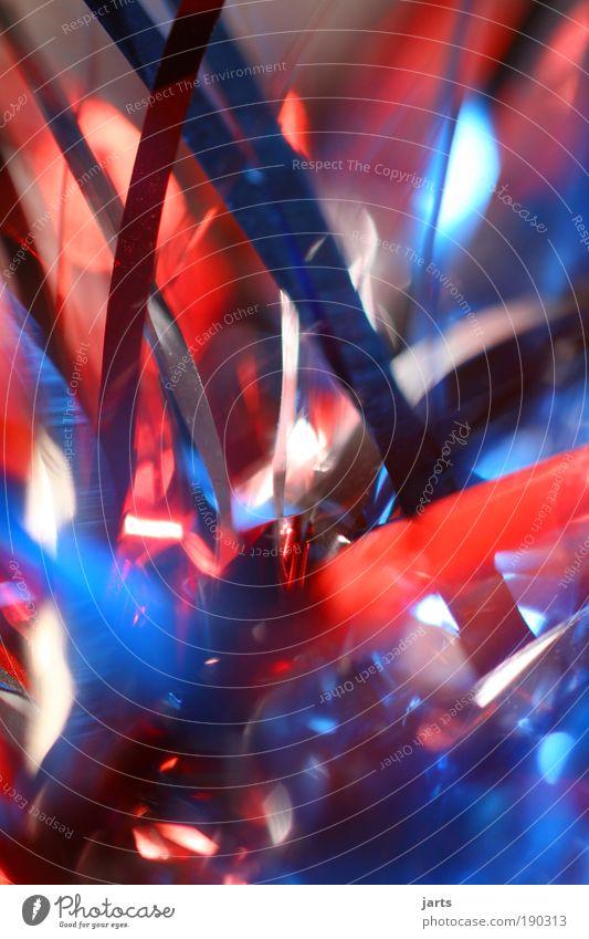 bunter abend Stil Design Veranstaltung Feste & Feiern Karneval Silvester u. Neujahr fantastisch blau rot silber Freude Fröhlichkeit chaotisch Farbe