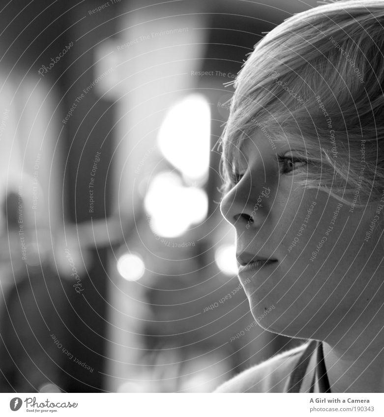 mein kleiner Filmstar Mensch Kind Jugendliche schön Ferien & Urlaub & Reisen Junge Mann Haare & Frisuren träumen Kopf Zufriedenheit warten blond Coolness nah