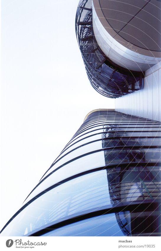 Twin Towers Himmel blau Stadt Haus Berlin Architektur Stil Gebäude Metall Business Arbeit & Erwerbstätigkeit Deutschland Glas Hintergrundbild Fassade modern