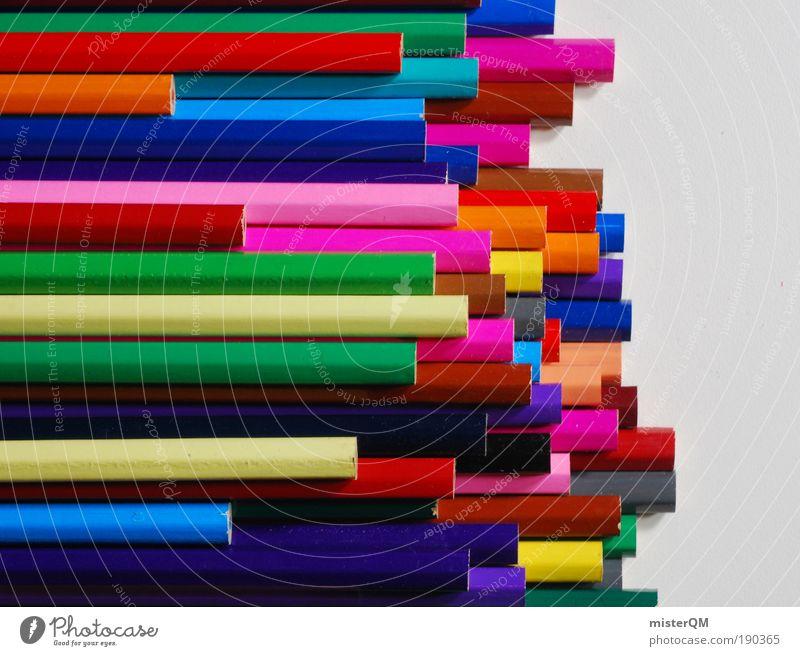 varicolored. Makroaufnahme mehrfarbig Freiheit Farbe Muster abstrakt Spielen Kultur Kunst Architektur Design Licht verrückt modern ästhetisch