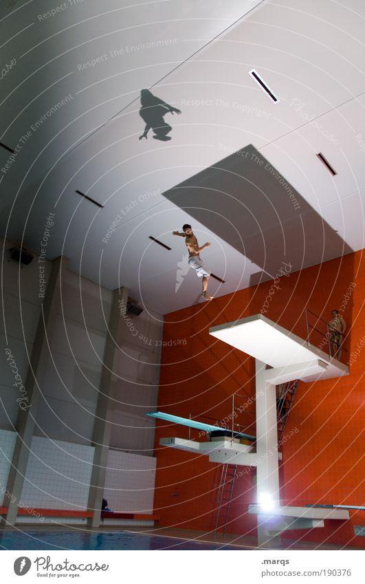 Sturz Jugendliche Freude Erwachsene Leben Sport Architektur springen Stil Freizeit & Hobby Mensch elegant fliegen groß maskulin Beginn außergewöhnlich