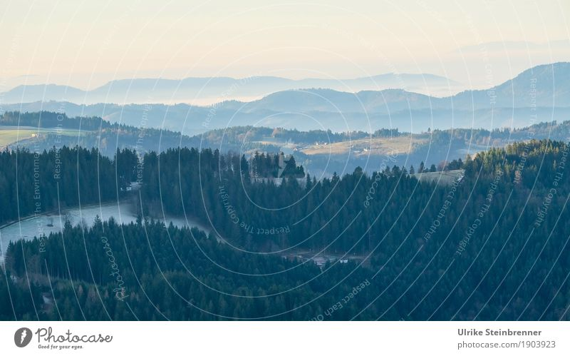 Muldenlage 9 Himmel Natur Ferien & Urlaub & Reisen Pflanze Baum Landschaft Einsamkeit Winter Ferne Wald Berge u. Gebirge Umwelt kalt natürlich Holz Tourismus