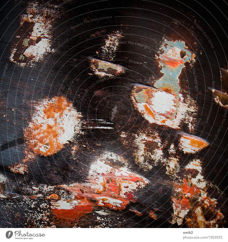 Quietscheentchen Kunstwerk Metall Rost alt verrückt braun orange rot schwarz weiß bizarr chaotisch Farbe Vergänglichkeit Badeente Teile u. Stücke durcheinander