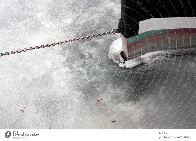 SOS Wasser Ferien & Urlaub & Reisen Meer Winter ruhig kalt Eis Wasserfahrzeug Frost Urelemente Fluss Hafen Nordsee gefroren Ostsee Schifffahrt