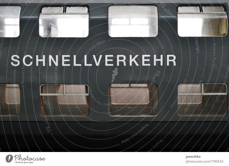Quickie Verkehr Verkehrsmittel Öffentlicher Personennahverkehr Bahnfahren Eisenbahnwaggon Schienenverkehr Personenzug Doppelstockwagen Ferien & Urlaub & Reisen