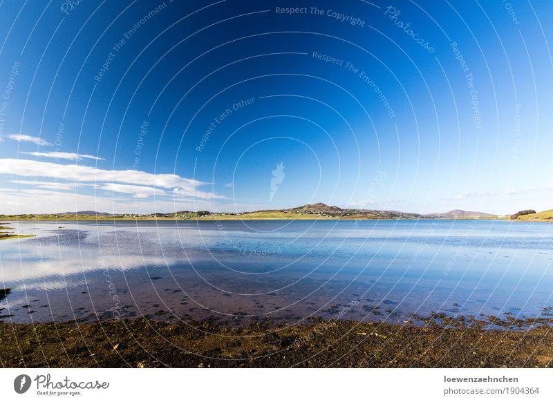 Kleine Spiegelung Natur Ferien & Urlaub & Reisen Wasser Sonne Landschaft Erholung Einsamkeit Wolken ruhig Ferne Herbst See Zufriedenheit Ausflug wandern Kraft