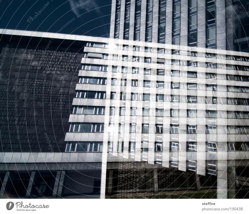different point of view Chemnitz Gebäude Sehenswürdigkeit bizarr Doppelbelichtung Farbfoto Außenaufnahme Experiment Tag Kontrast Sonnenlicht Architektur