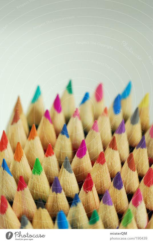 Kreativ Team. Kunst ästhetisch Farbstoff mehrfarbig Farbstift Kreativität Grafik u. Illustration Design Idee Brainstorming malen Spielen viele knallig Spitze