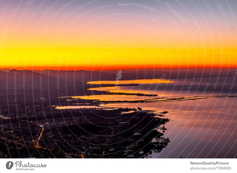 bodensee and sunset Design Meditation Strand Wind Berge u. Gebirge See Erholung pfander Bodensee bodensea lindai am bodensee Bregenz Schweiz Österreich