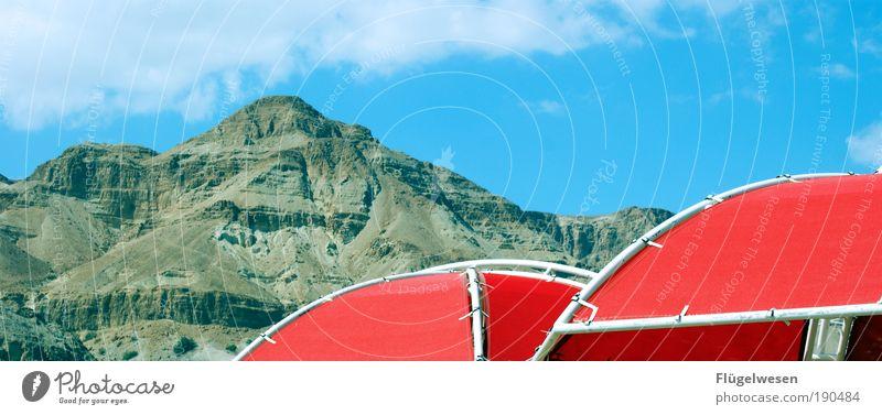 Überdachte Täler Ferien & Urlaub & Reisen Ferne Berge u. Gebirge Landschaft Umwelt springen Kraft Freizeit & Hobby Ausflug hoch Felsen Tourismus stehen Macht Klettern Regenschirm