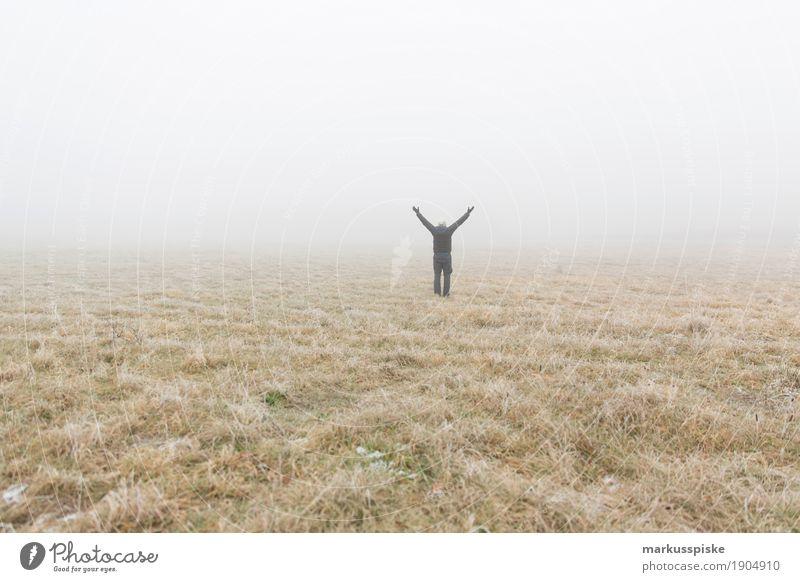 Nebelwand Natur Pflanze Winter Leben Kraft Geborgenheit Stiefel Expedition
