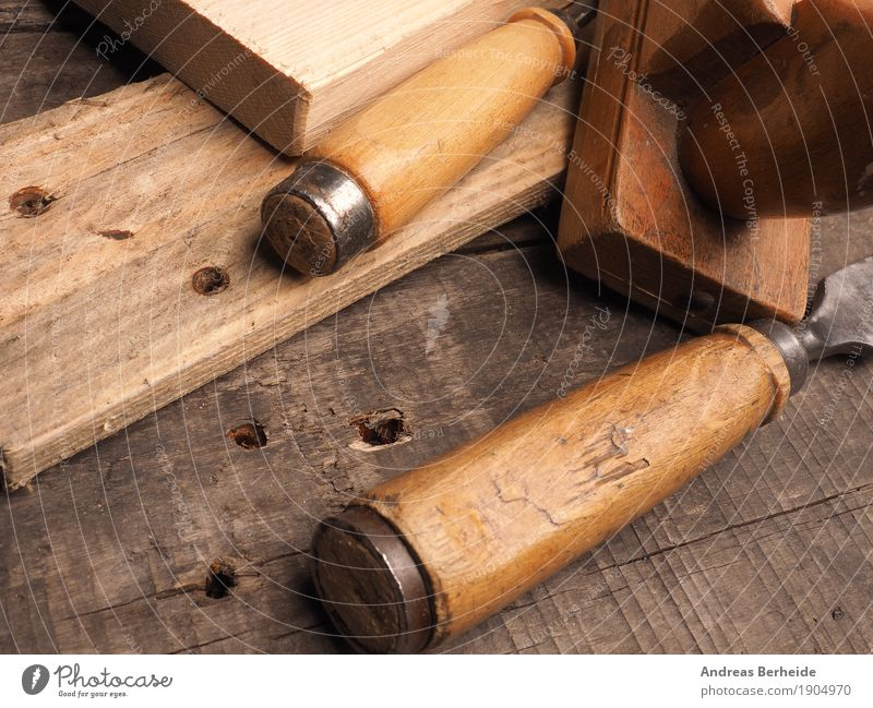 Holzbearbeitung Handwerk Baustelle Hammer alt retro Kreativität Leistung carpenter carpentry chisel collection dirty joiner old rustic rusty set texture tools